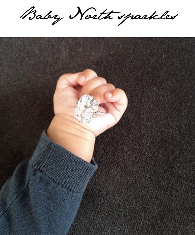 Kim Kardashian Baby North Engagement Ring