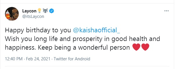 BBNaija: Laycon Drops A Hearth-Warming Birthday Wish For Kaisha