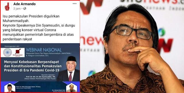 KOKAM Muhammadiyah Somasi Ade Armando atas Fitnah dan Pencemaran Nama Baik