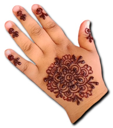 Beautiful Mandala Mehndi for Children