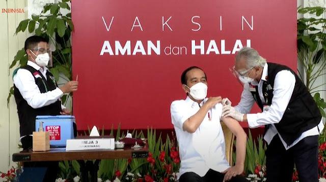 Ini Kalimat Yang Diucap Jokowi Usai Disuntik Vaksin Sinovac