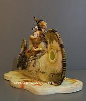statuette personaggi fumetti sculture indiani modellini personalizzati su commissione orme magiche