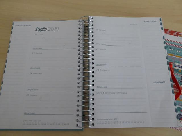 agenda boxclever mensile divisa per settimane
