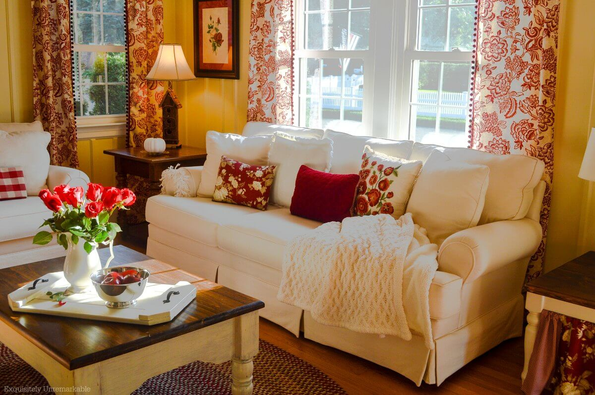 Cottage Style Living Room Makeover