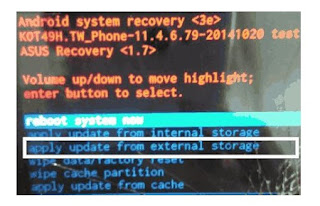 Cara Flash Asus ZenFone Max (ZC550KL) Tanpa PC