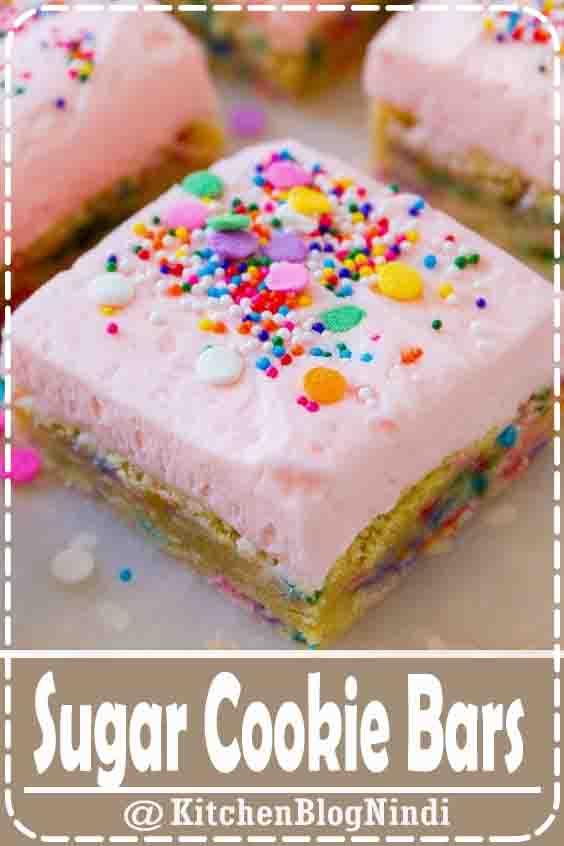 Sugar Cookie Bars #Sugar #CookieBars