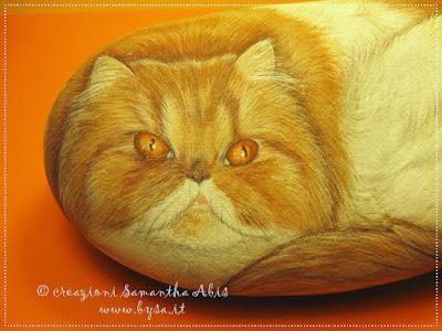 Sassi dipinti gatti. Prezzi