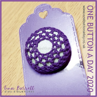 One Button a Day 2020 by Gina Barrett - Day 43: Embrace