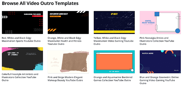Canva's Outro Maker Templates