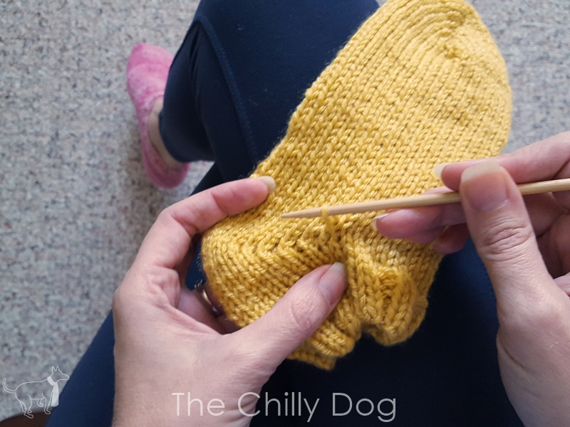 Knitting Expat German Short Row Heel : Knitting tutorial german or double stitch short row heels