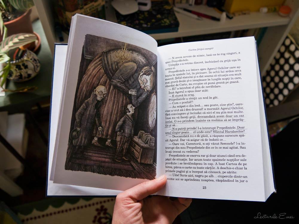 Recenzie Cartea fetiței-vampir Adina Popescu