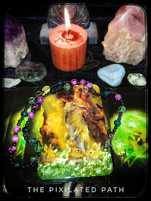The Truthful Hare Card from The Sidhe Oracle of the Fleeting Hare deck.