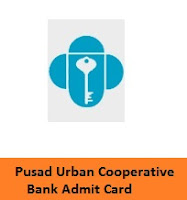 Pusad Urban Cooperative Bank Passing Officer Admit Card