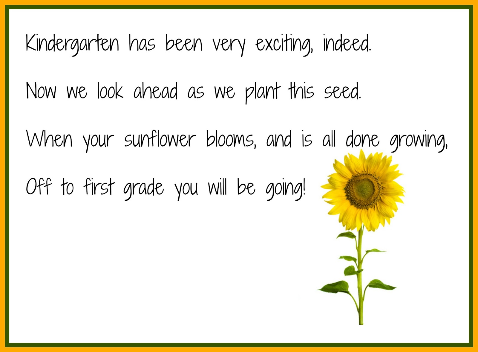 Preschool Sunflower Poems   just b.CAUSE
