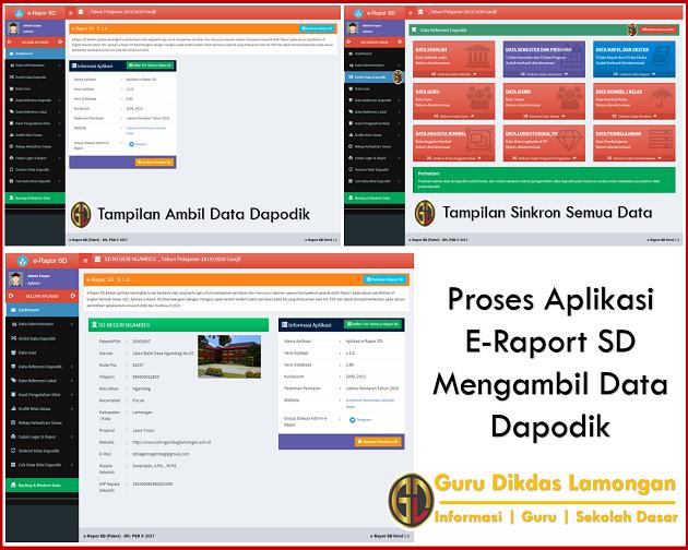 Proses Aplikasi E-Raport SD Mengambil Data Dapodik