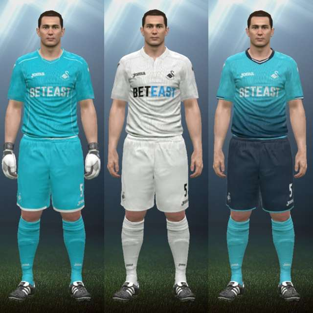 PES 2016 Swansea City Kit Season 2016/17