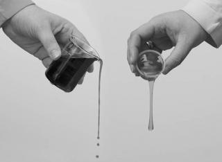 viscosidad entre dos aceites