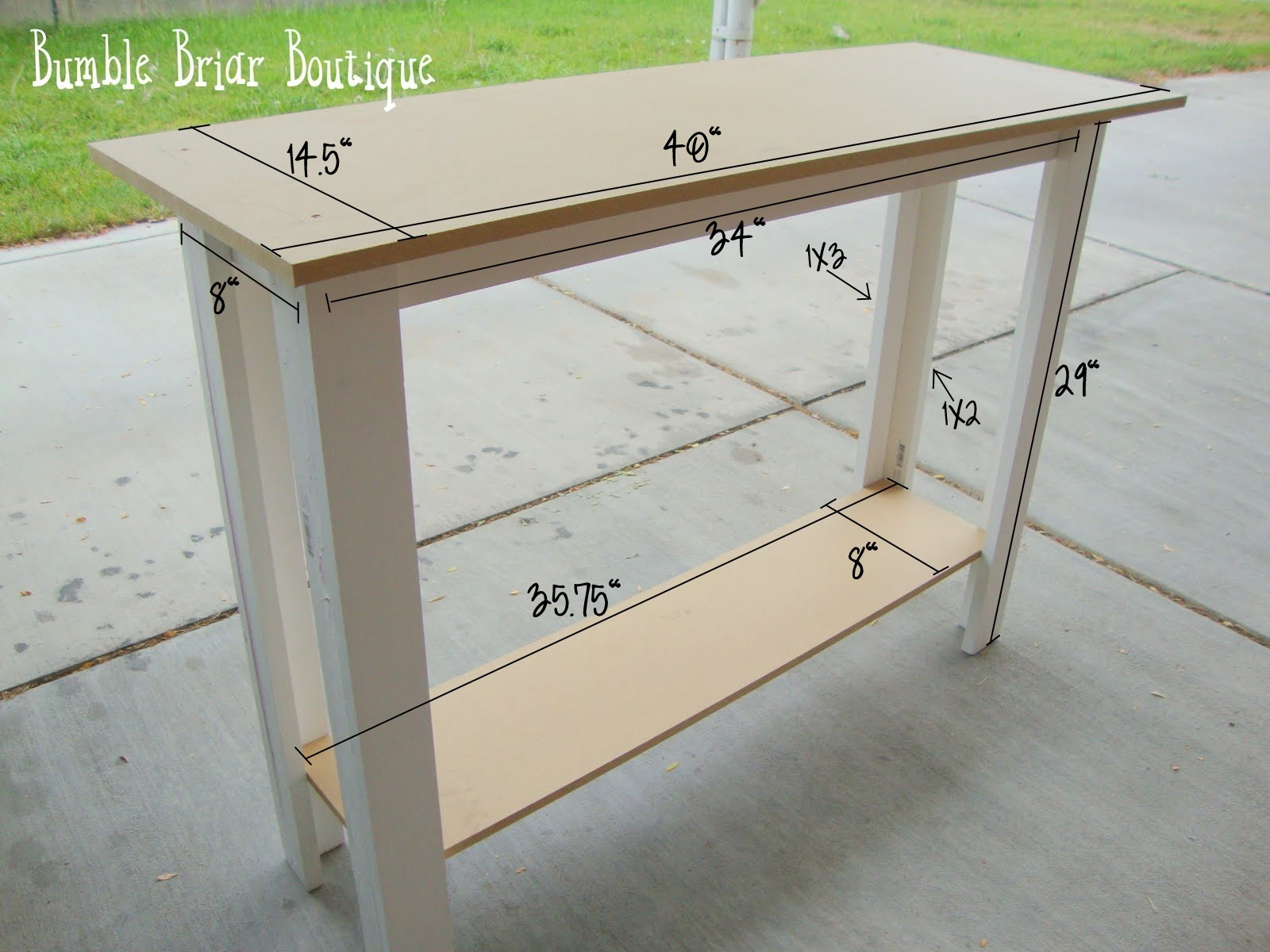 Standard Sofa Table Length On Wheels Bumble Briar Boutique Measurements For