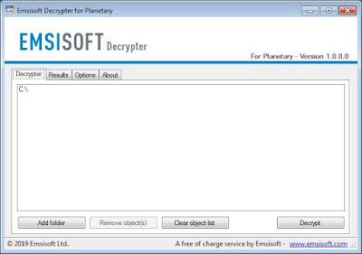 Hướng dẫn giải mã mã độc mã hóa tống tiền Planetary Ransomware hoàn toàn miễn phí - CyberSec365.org