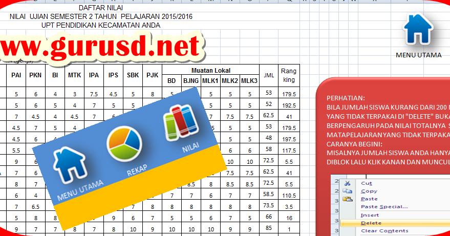 Aplikasi Hitung Dan Olah Nilai Semester Animaster Kurikulum 2013 Revisi