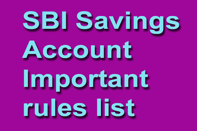 sbi-savings-account-important-rules-list