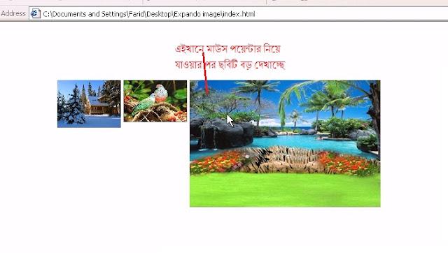 জাভা স্ত্রিপট দিয়ে Expand image viewer তৈরী করুন .....
