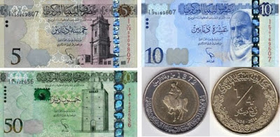 Countries and Currency Libyan dinar