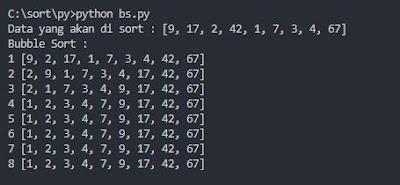 output bubble sort