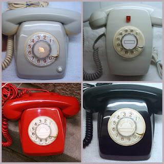 Tonos de Teléfonos Antiguos: Imagen que muestra 4 teléfonos Heraldo