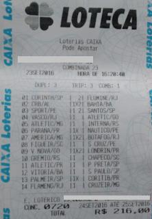 LOTECA 720 - 13 PONTOS DO AFONSO SILVA