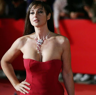Monica Bellucci Exclusive Deep Cleavage Show On Red Carpet Ever