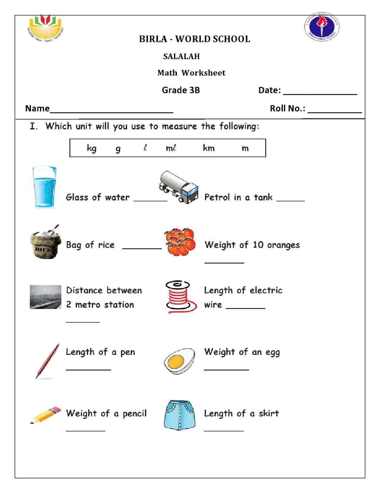 Birla World School Oman Home Work For Grade 3b On 21 01 16