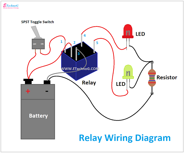 Relay Wiring Diagram, Wiring Diagram of relay, how to wire a relay
