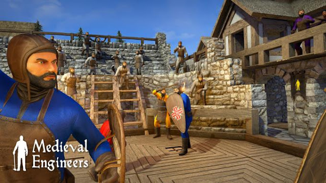 Medieval Engineers is a builder simulator with sandbox elements in an open game world.