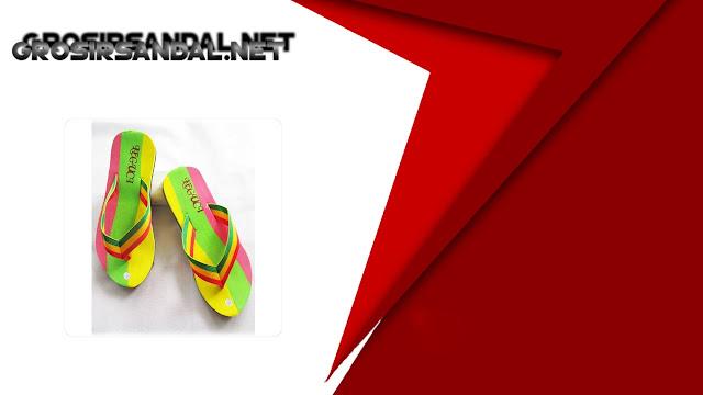 Sandal Pelangi teplek Dws BJG | Grosir sandal murah online
