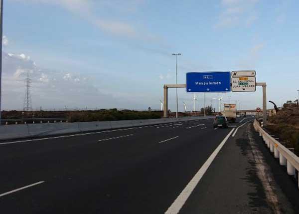 Muere un trabajador al ser atropellado en la autopista del Sur de Gran Canaria