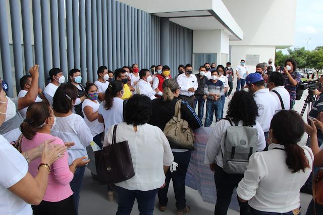 LXII Legislatura exhorta que se pague a docentes del Programa de Escuelas de Tiempo Completo. Foto Antonio Sánchez