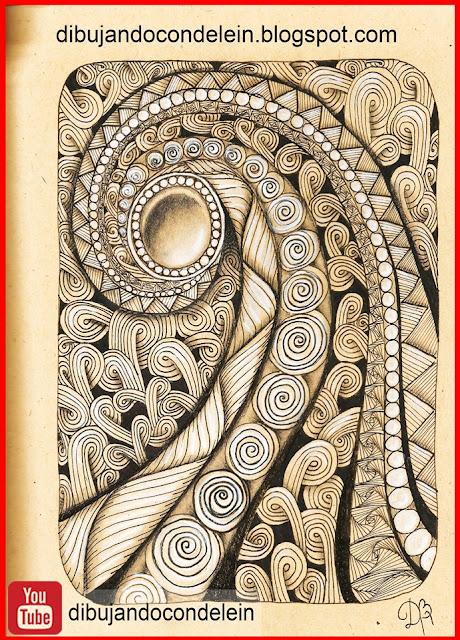 dibujo par principiantes, clases gratis de dibujo, youtube, video tutorial, como dibujar zentangle art, delein padilla, dibujando con delein, como dibujar un mandala, tutorial de dibujo, video tutorial, dibujo facil