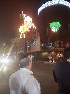 Neon cowboy at Fremont Street Las Vegas Nevada