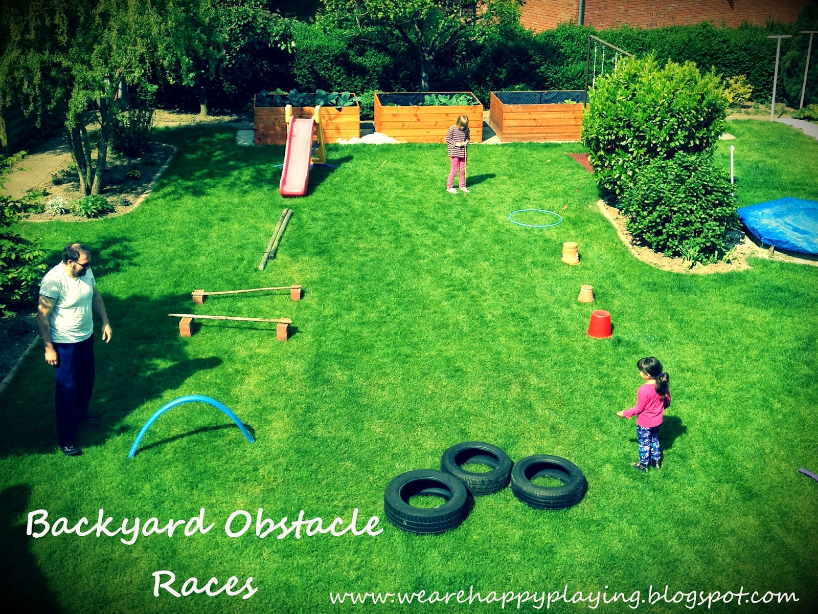 We are Happy Playing: DIY Backyard obstacle races without ...