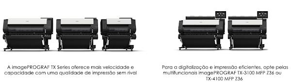 Uma impressora rápida e de alta definição para CAD e produção de cartazes – a nova Série imagePROGRAF TX da Canon