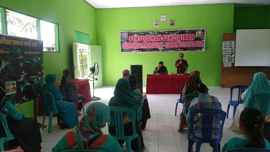 Satgas TMMD Berikan Penyuluhan Pelayanan Publik dan Pendidikan kepada Warga Sasaran