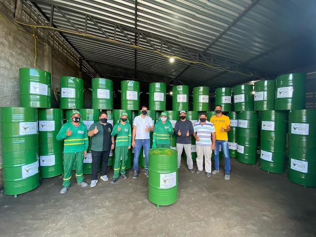 LOCAL: Calçamento entregue e novas lixeiras foram colocadas nas vias públicas de São Joaquim