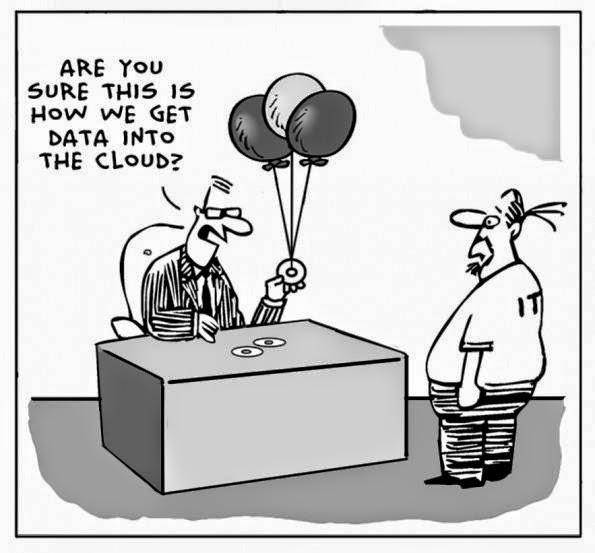 Complicado colocar esses dados na nuvem, hein ?