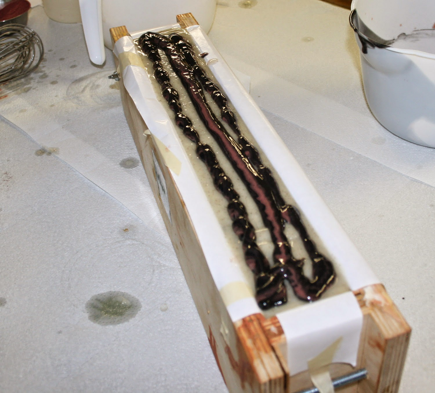 how to make a cold rocess stain stick