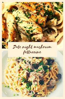 date night mushroom fettuccine