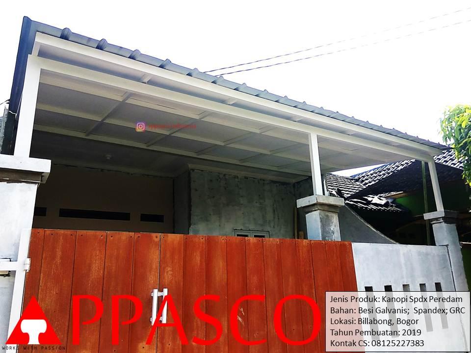 Kanopi Minimalis Atap Spandek Peredam di Billabong