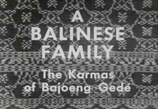 A Balinese Family. 1952.