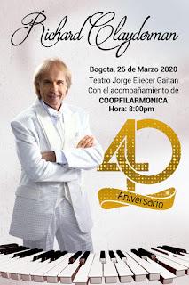 Concierto de RICHARD CLAYDERMAN en Colombia 2020