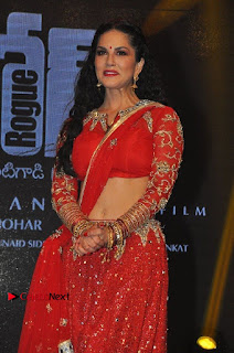 Bollywood Actress Model Sunny Leone Dance Performance in Red Half Saree at Rogue Audio Launch 13 March 2017  0169.jpg